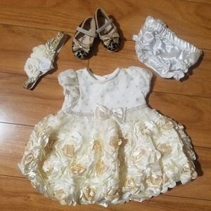 Cute Nannette dress 0 to 3mnth with shoes